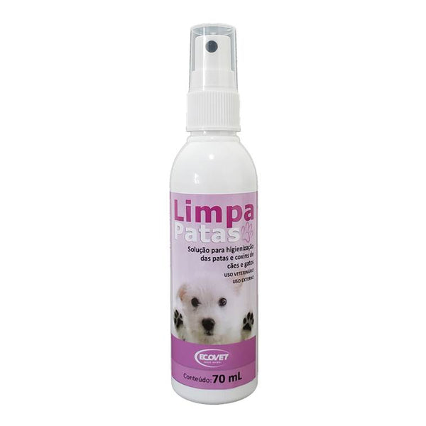 Limpa Patas Ecovet para Cães e Gatos Spray 70ml