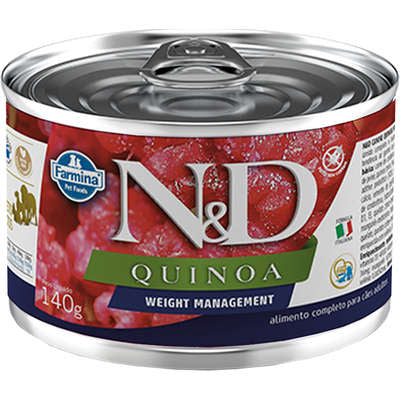 Alimento Úmido N&D Cão Quinoa Weight Management Cordeiro Lata 140g