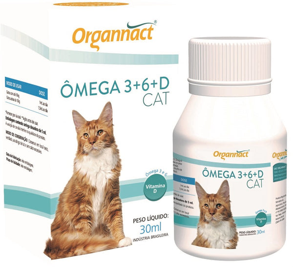Ômega 3+6+D Cat Organnact 30ml