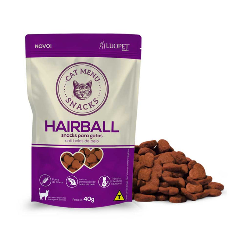 Petisco Luopet Cat Menu Hairball 40g