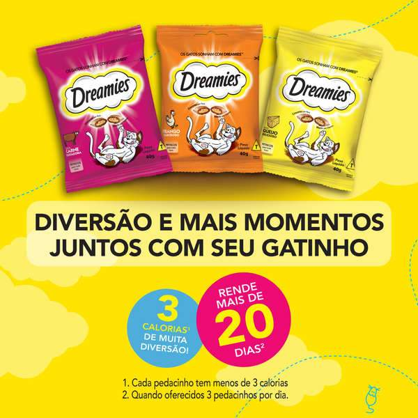 Petisco Dreamies Carne para Gatos 40g