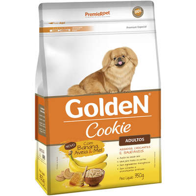 Petisco Golden Cookie Cães Adultos Banana, Aveia e Mel 350g
