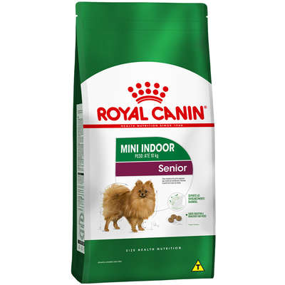 Ração Royal Canin Mini Indoor Sênior Cães 7,5kg