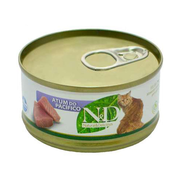 N&D Gato Lata Atum do Pacífico 70g