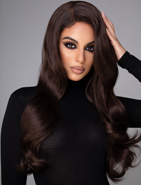 "RICH AF - 24"" RICH CHOCOLATE BROWN LACE FRONT WIG"