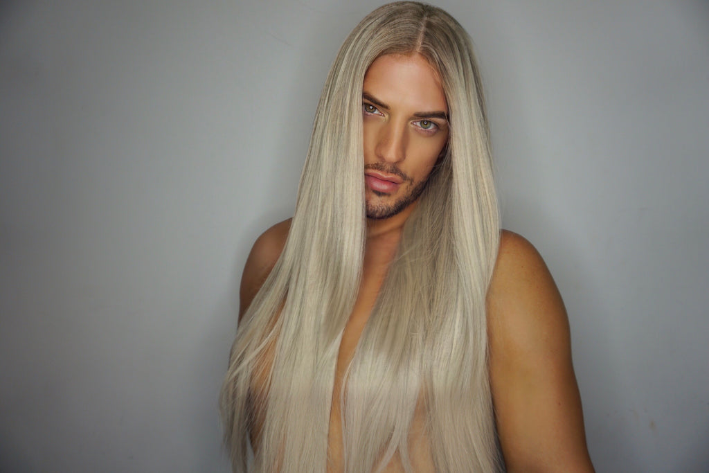 "CAPRICE PLATINUM - 24"" ULTIMATE ASH BLONDE LONG STRAIGHT LACE FRONT WIG"