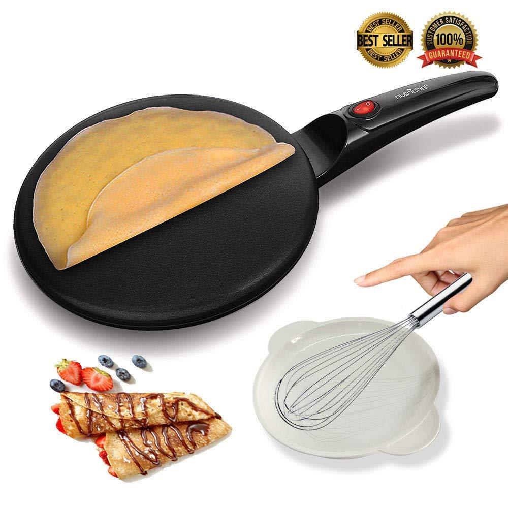 Electric Crepe Maker Griddle with Non-Stick Coating