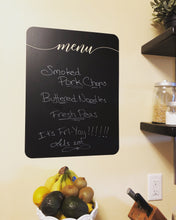 Load image into Gallery viewer, Chalkboard Menu vinyl decal