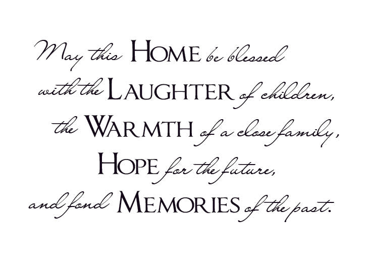 May this Home be blessed Vinyl Wall Decal