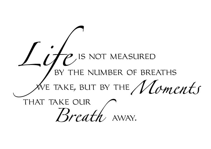 Life is not measured Vinyl Wall Decal
