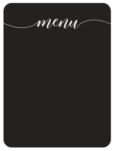Chalkboard Menu vinyl decal