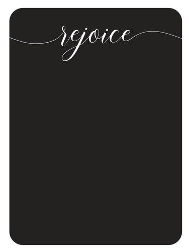 Chalkboard Rejoice vinyl decal