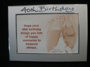 40th Birthday frame