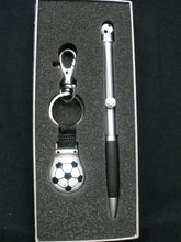 Load image into Gallery viewer, Soccer Pen & Keyring set