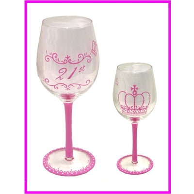 21st Celebrations Wine Glass