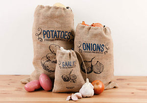 Set of 3 Jute Produce Bags