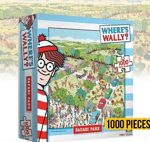 Where's Wally 1000 piece puzzle - Safari