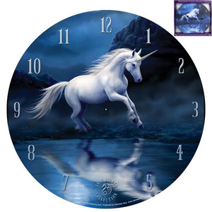 Anne Stokes Collection Wall Clock Moonlight Unicorn