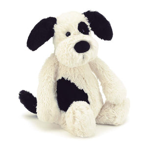 Jellycat Bashful Black Cream Puppy - Medium