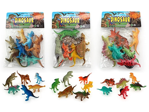 DINOSAURS IN BAG 10-15CM 6 PIECES