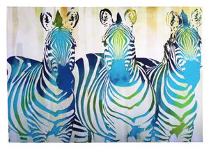 Canvas Zebra Trio