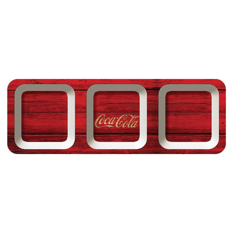 Coca Cola Snack Tray Wood Style