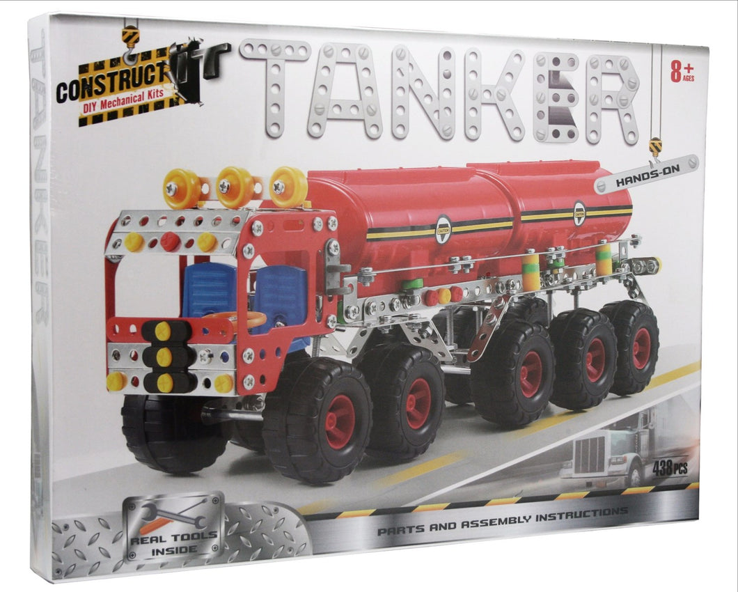 Construct It Kit - Tanker - 438pc  DIY Mechanical Kit