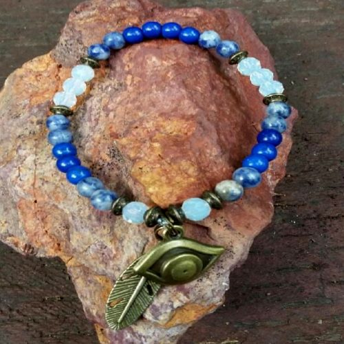 Crystal Bracelet – Eye of Horus Charm
