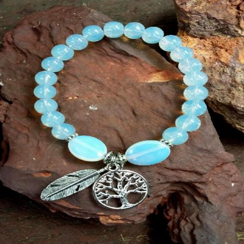 Crystal bracelet Opalite Tree of Life