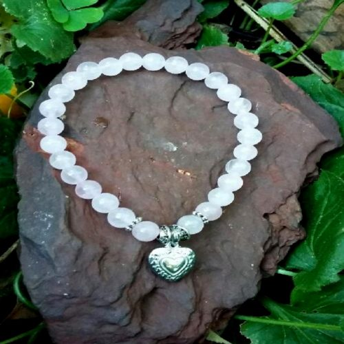 Crystal bracelet Rose quartz