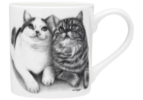 Feline Friends Fixated Friends City Mug by Ashdene