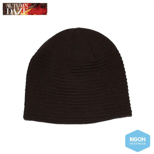 Ribbed Beanie by Rigon, Brown