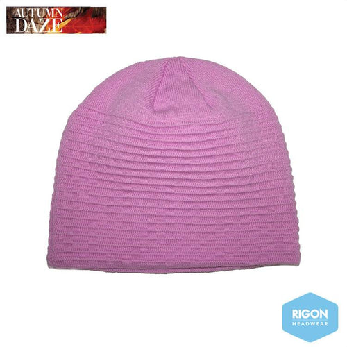 Georgia Ribbed Beanie by Rigon, Pink