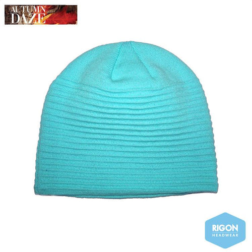 Georgia Ribbed Beanie by Rigon Turquoise