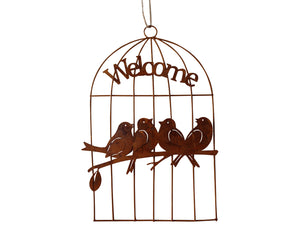 Wall Art Hanging Birds In Cage