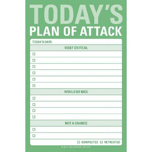 Knock Knock Great Big Stickies-Todays Plan Of Attack
