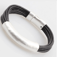 Leather Elegance Bracelet by Dibora
