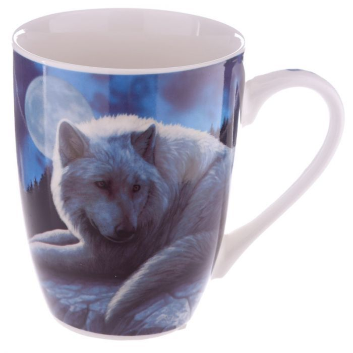 Guardian of the North Wolf Mug by Lisa Parker