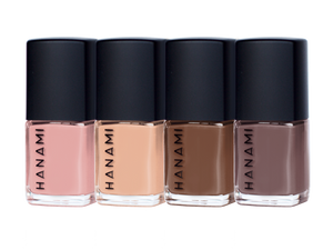 NAIL POLISH MINI PACK - MOCHA- BY HANAMI -Australian Made & Cruelty FREE