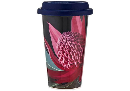 Native Grace Waratah Travel Mug by Ashdene