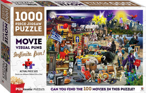 Puntastic Puzzles - Movies 1000-piece puzzle