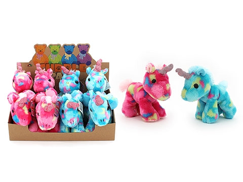 PLUSH - 21CM COLOURFUL UNICORN