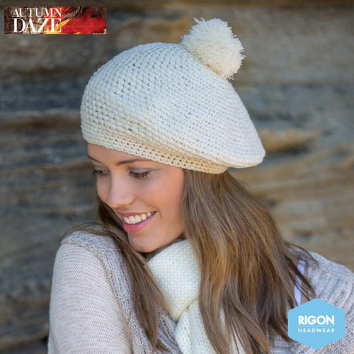 Parisian Crocheted Beret by Rigon