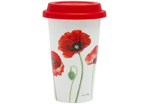 Poppies AWM Double Walled Travel Mug by Ashdene