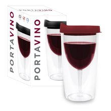 Load image into Gallery viewer, PORTA-VINO Black Wine Tumbler