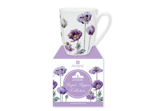 Purple Poppies AWM Coupe Mug by Ashdene