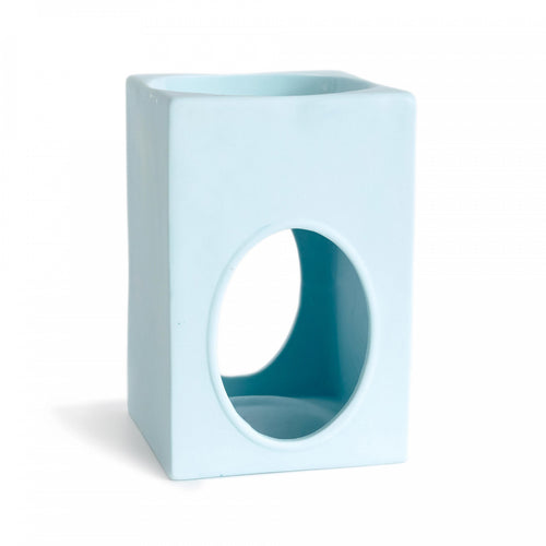 RECTANGLE OIL & MELT BURNER - LIGHT BLUE