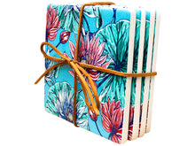 Load image into Gallery viewer, Ceramic Coasters Blue Lily