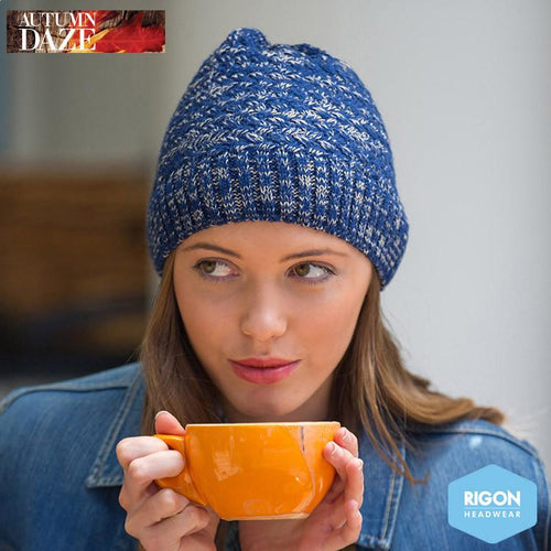 Salt & Pepper Knitted Beanie by Rigon Blue