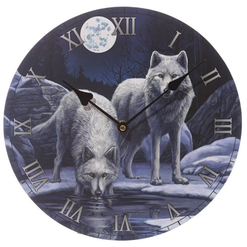 Snow Wolf Warriors Wall Clock Lisa Parker